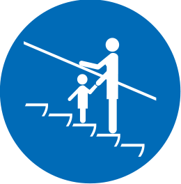 Icon of an adult accompanying a child
