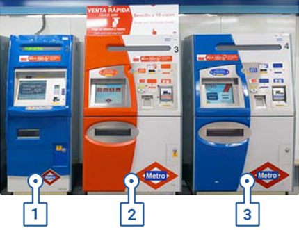 Machines for topping up at stations