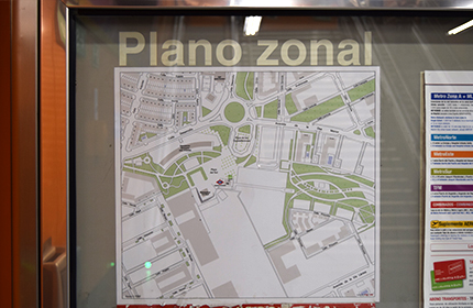 A poster with the zone plan