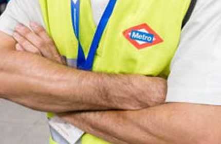 Picture of Metro staff wearing identification waistcoats.
