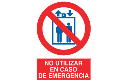 Icon showing people in a lift behind the prohibited sign