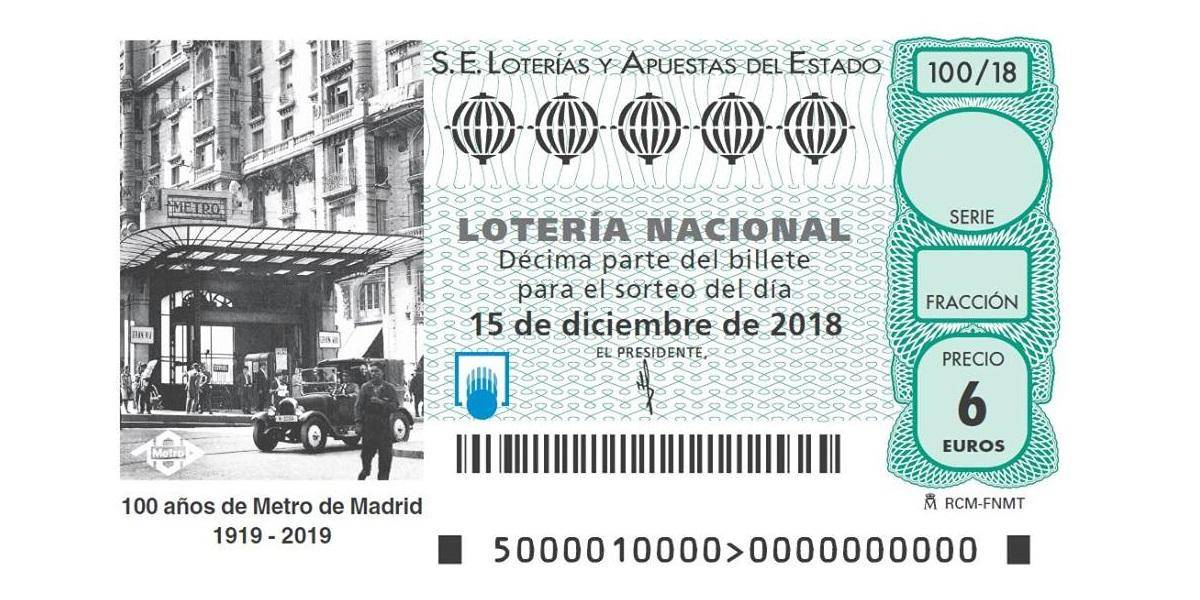 The Spanish National Lottery dedicates the Christmas ticket