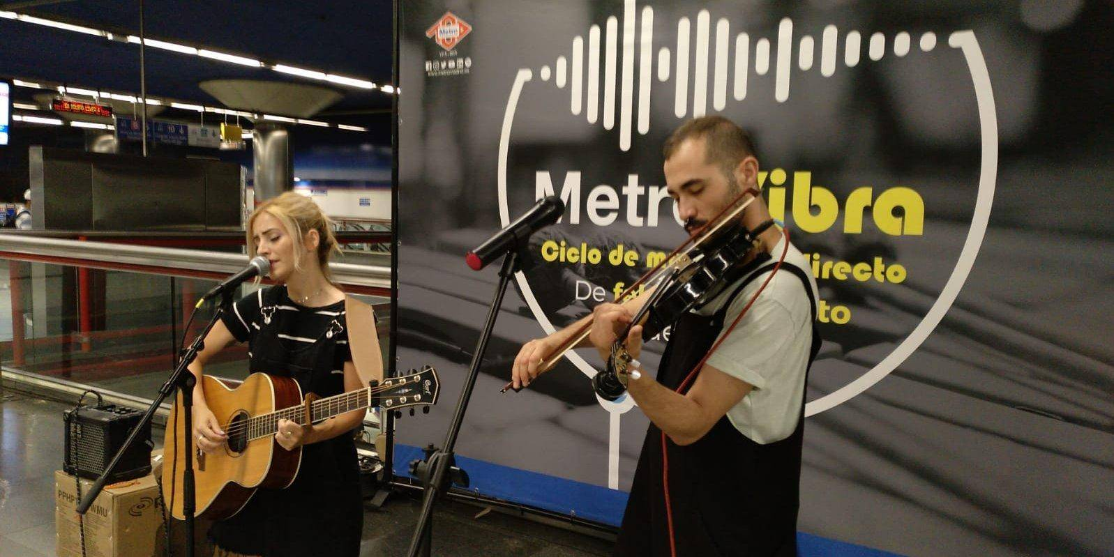 Concert in Nuevos Ministerios station