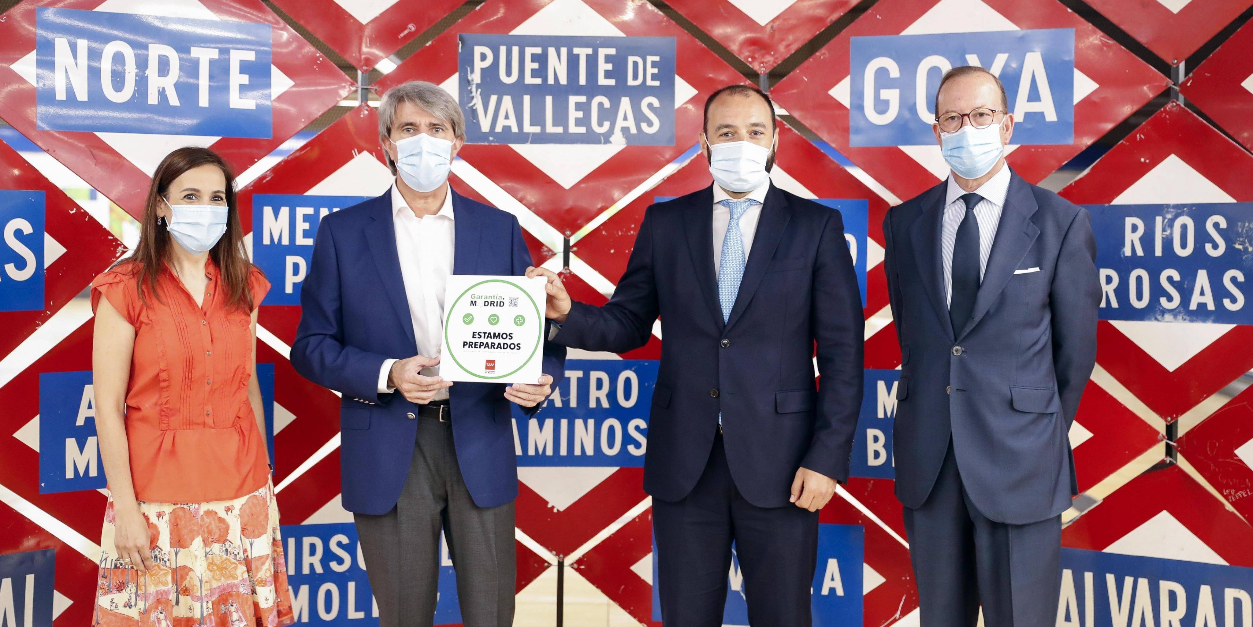 The Regional Government awards the Madrid Guarantee seal to Metro for its good practices in relation to COVID-19