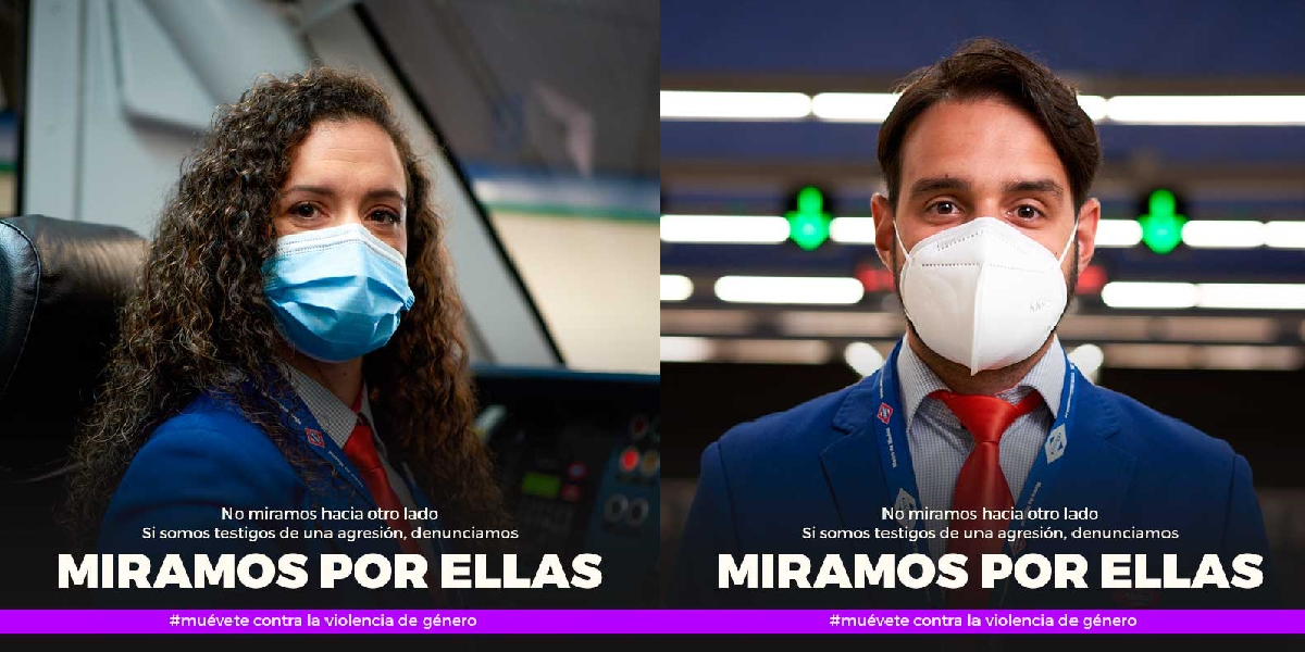 "Metro joins the fight against gender violence with the ""Miramos por ellas"" (We look after them) campaign, which includes voluntary training for employees"