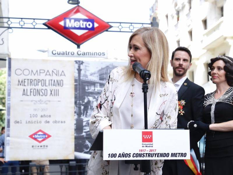 The President celebrates the hundred years since the commencement of the works for the Underground line that linked Sol with Cuatro Caminos stations