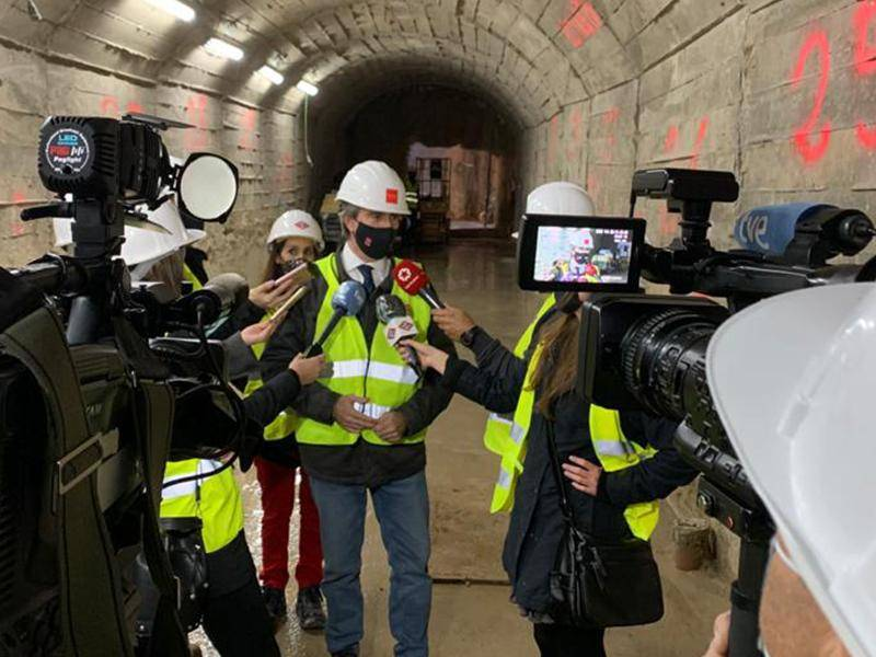 The Regional Minister of Transport, Mobility and Infrastructure has checked the progress of the work on the Príncipe de Vergara station