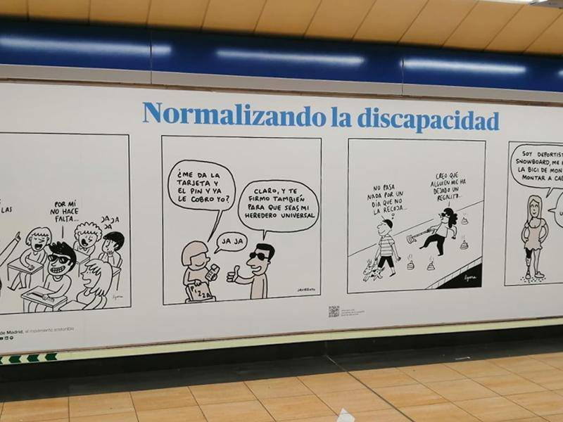 Metro de Madrid joins the disability awareness campaign #IgualDeDiferentes