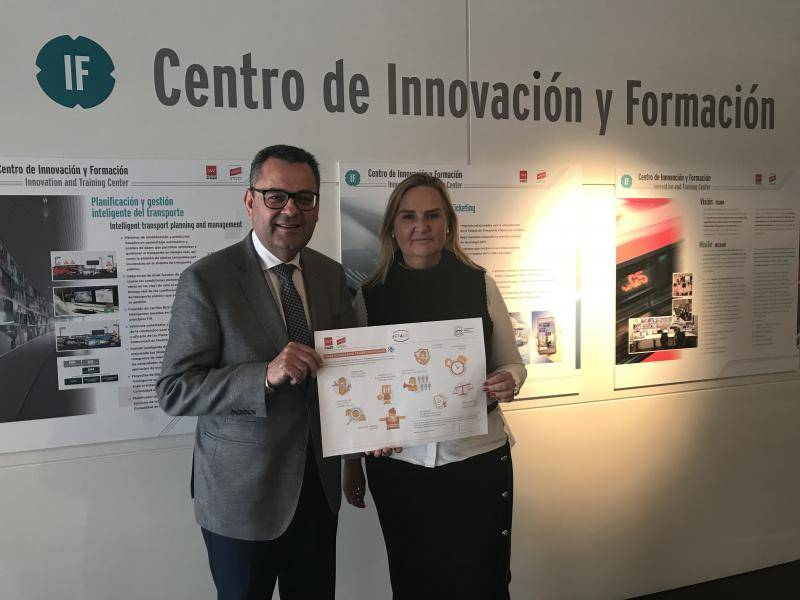 Rosalía Gonzalo visits Regional Transport Consortium with Secretary-General of UITP in Brussels, Mohamed Mezghani