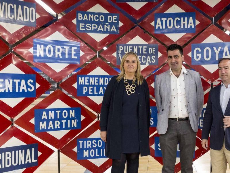 Rosalía Gonzalo attends presentation of contests in Chamartín station