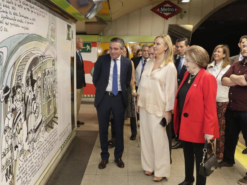 Metro de Madrid was the subject of many cartoons and drawings by the artist