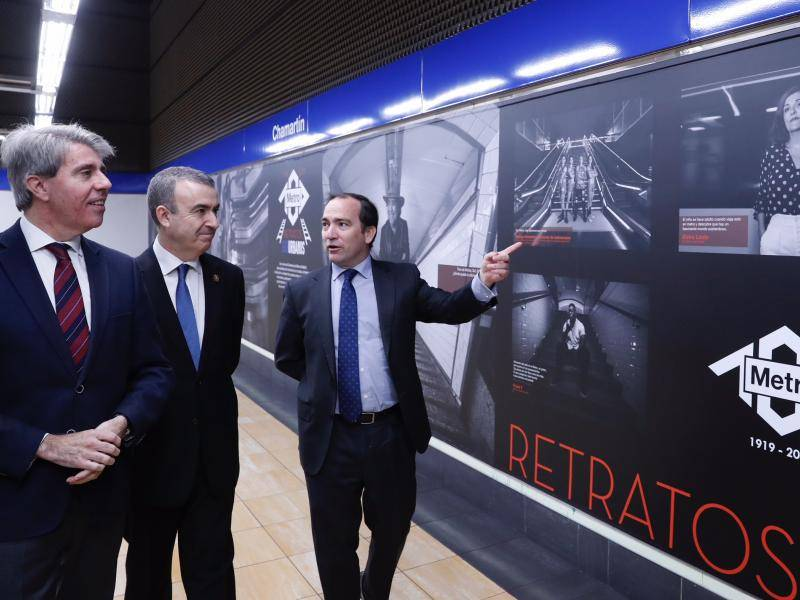The President of the Regional Government of Madrid inaugurates an exhibition included in the commemoration of the first centenary of Metro de Madrid