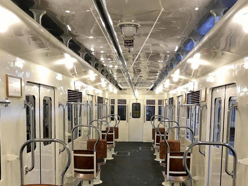 Inside of Legazpi L5-type train